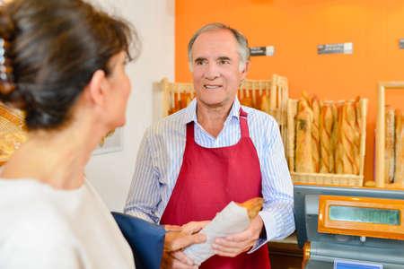 serf: man serving bread