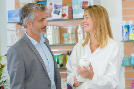 oversee: pharmacist endorsing a product