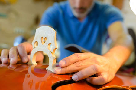 installing an string instrument bridge