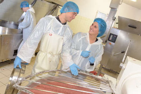 food industry: food processing plant Stock Photo