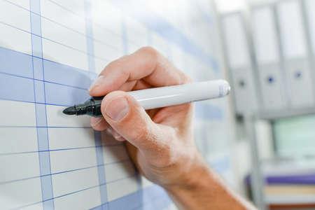 calandar: Writing on wall calandar