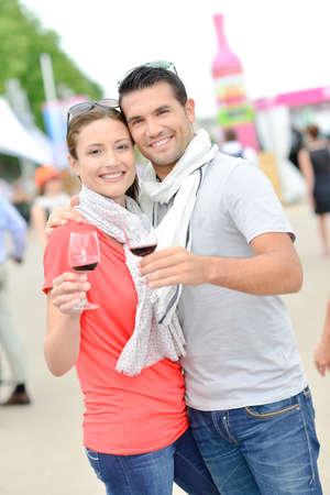 fare: couple at wine fare