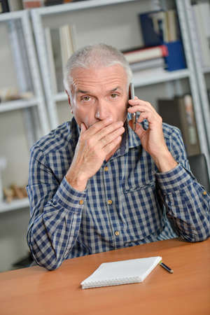 disbelief: Shocked by phone call