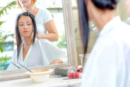 styler: woman having a service in the salon