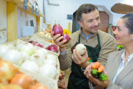 persuades: onion and garlic Stock Photo