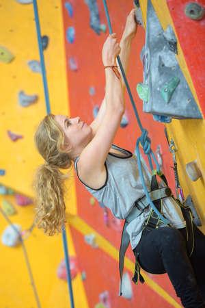 struggle on wall climbing