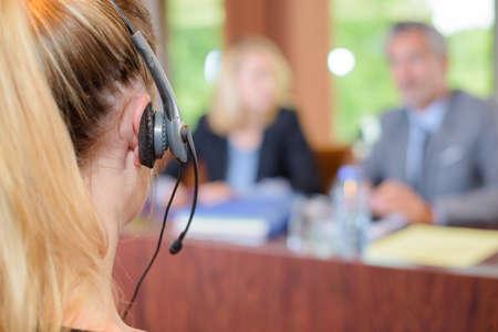secretary at meeting Standard-Bild