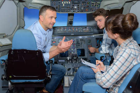 simulator: conversation in the aircraft simulator