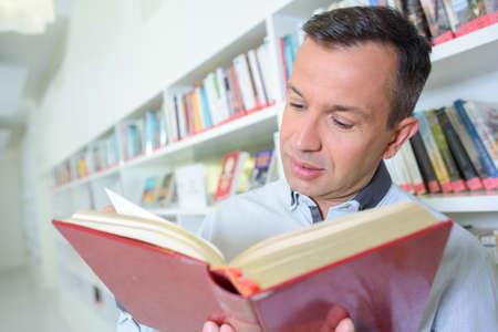 serious book reader