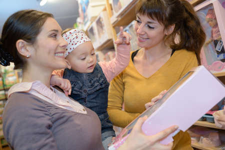 homeware: mother daughter and friend shopping for homeware