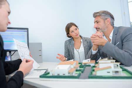 persuades: planning a real estate project Stock Photo