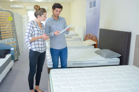 choice of mattress Stock Photo