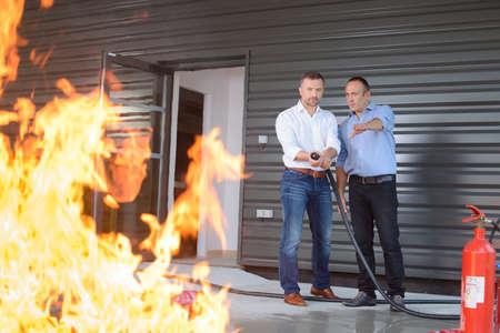 kontrolowanie ognia Zdjęcie Seryjne