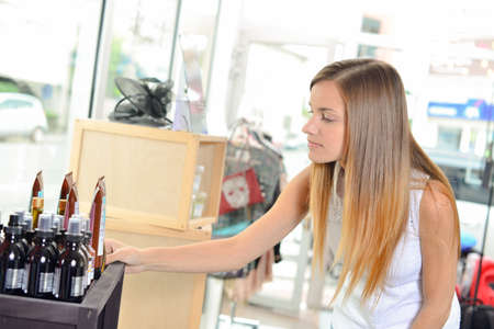 buying: Buying some cosmetic products
