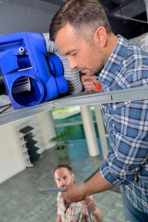 heat register: Checking ceiling ventilation