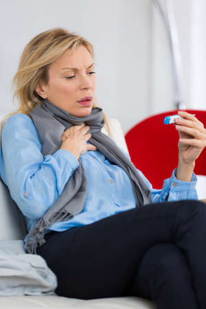 woman who is sick Stock Photo