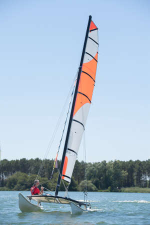 lifevest: sailing on a lake - summer and sports theme