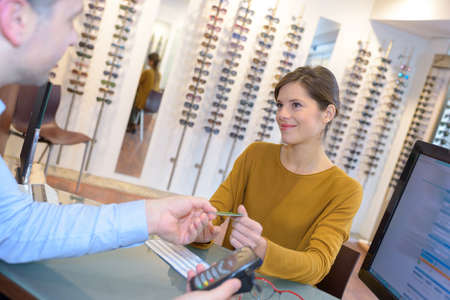 downpayment: paying the eyeglasses