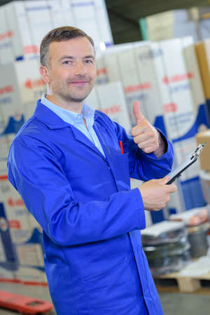 allocate: logistics delivery on the warehouse Stock Photo