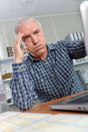 irritated: Irritated employee