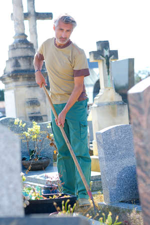 groundskeeper: maintaining a cemetery