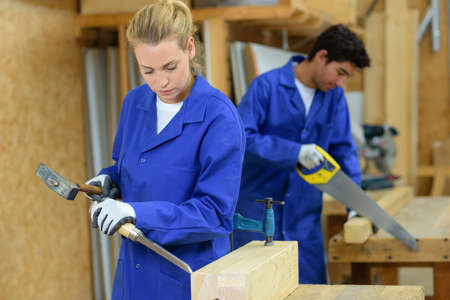 coursework: People woodworking