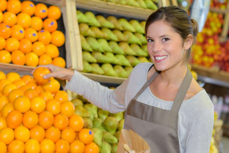 display of fresh fruits Stock Photo