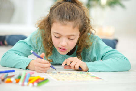 Creative little girl Stock Photo