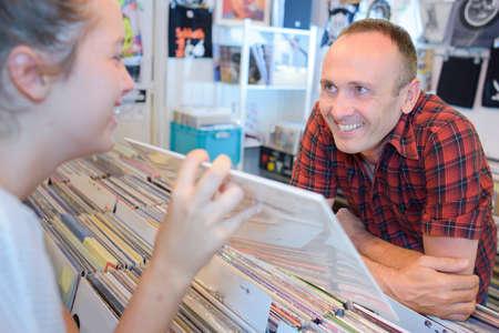records shop Stock Photo