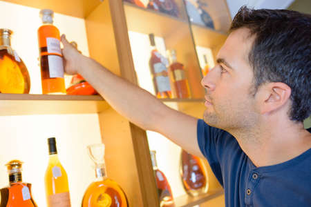 moderation: getting an alcohol Stock Photo