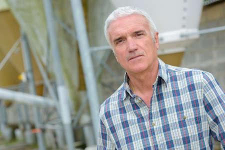 portrait of a confident plant manager