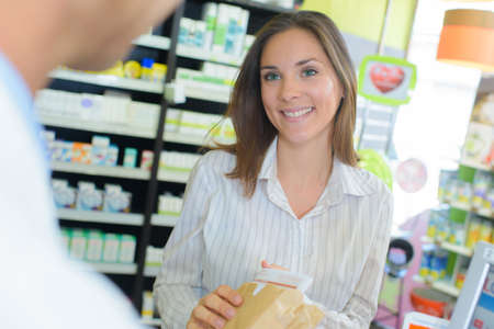 talking to a pharmacist