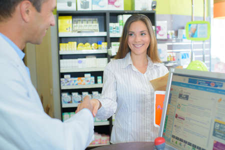 greeting the pharmacy client