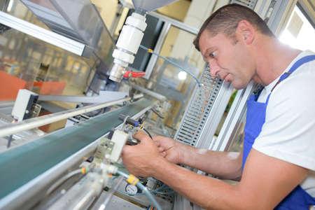 pipe line: busy technician