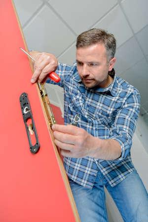 Replacing a door lock