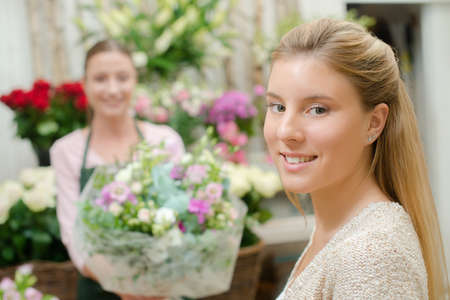 buying: Buying some flowers
