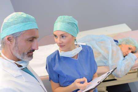 hygien: preparing a patient