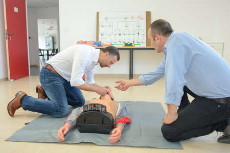 firstaid: first-aid course Stock Photo