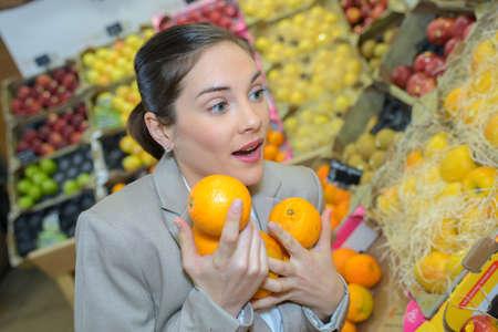 full of fruits Stock Photo