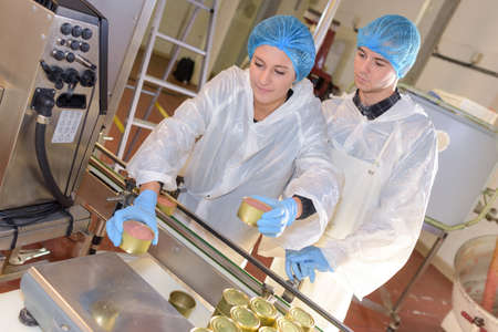 food industry: Factory quality control weighing product