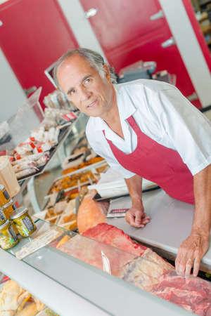 Butchers shop Stock Photo