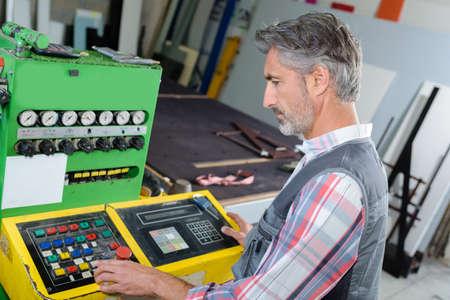 machine operator working