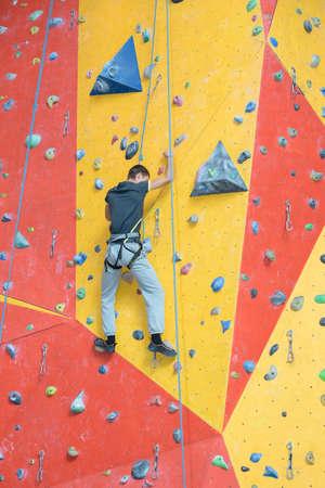 improvement in wall climbing Stock Photo
