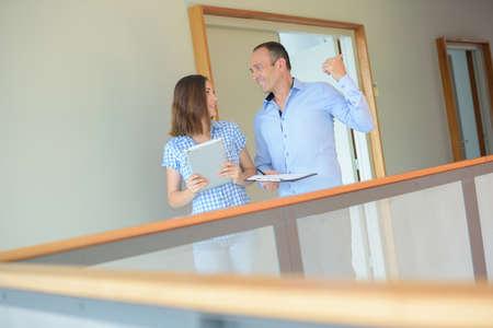 workmate: estate agent in conversation