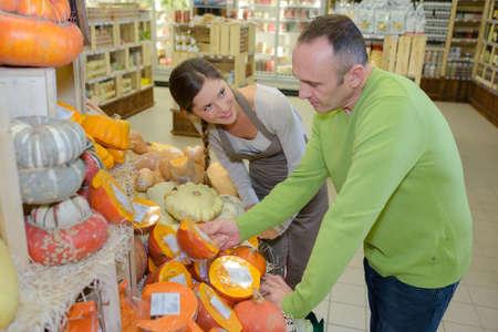 display of organic pumpkin