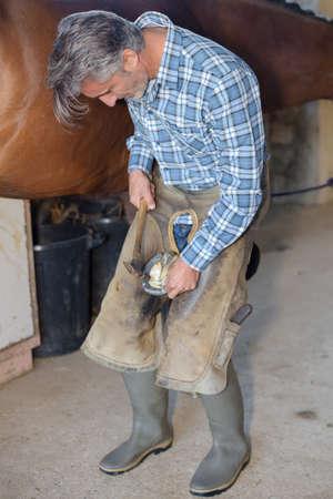 attaching: attaching a hoof