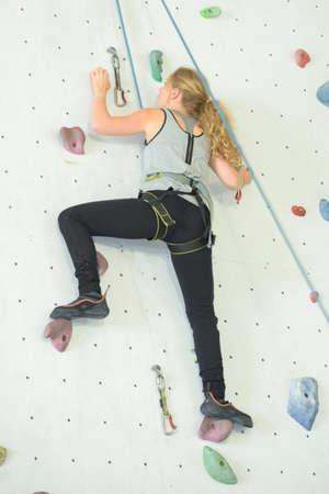 crack climb: focused on the race