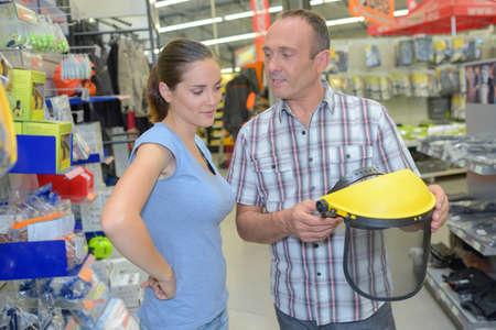 shopper: diy shopper taking salesman advice