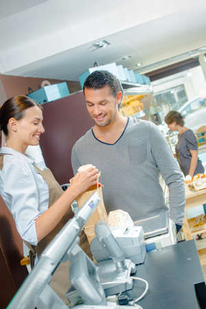 serf: Customer in a shop Stock Photo