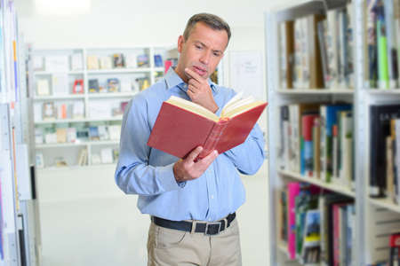 biographer: searching for a new idea Stock Photo